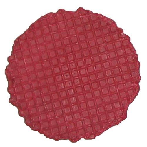 Knuspertaler Rundwaffeln Rot - Inhalt: 1000 Stück - rund 60mm Durchmesser - Knusprige Eiswaffel zum Dekorieren von Eisbechern - Preis pro Waffel 0,03 € - Mülheimer Manufaktur Eiswaffeln