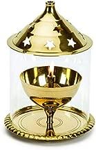 Shringar Mandir™ Brass Golden Akhand Diya (13cm X 18cm)