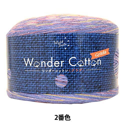 春夏毛糸 『Wonder Cotton(ワンダーコットン) グラデーション 合太タイプ 2番色』