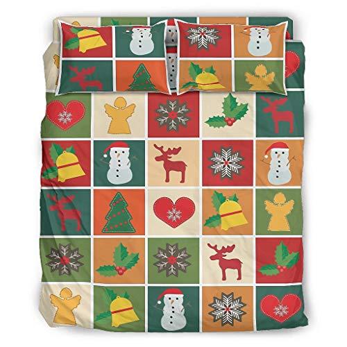 YOUYO Spark Juego de cama de Navidad cómodo hermoso - forros de la camaSan Valentín blanco 240x264cm