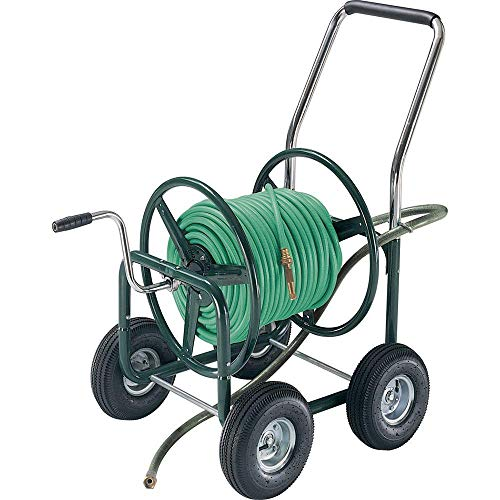 AMES 2380500 Estate 4-Wheel Steel Wagon, 400-Foot Hose Capacity