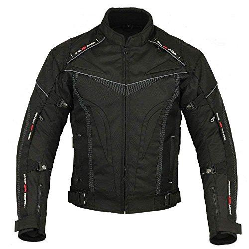SPEED MAXX LTD Black HAWK - Giacca da uomo in cordura per moto e moto, in tessuto, taglia 6XL, colore: Nero