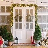SALCAR PREMIUM Weihnachtsgirlande mit 100 LEDs - 3m - Tannengirlande mit Beleuchtung - 30V - Künstliche Girlande Weihnachtsdeko - Weihnachtsschmuck - Deko für Weihnachten, Treppen, Kamine - Grün - 7