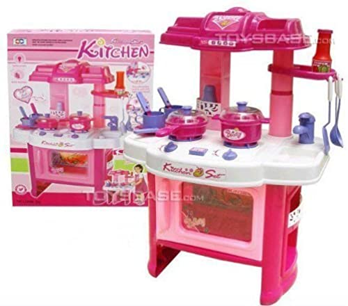 Deluxe Beauty Kitchen Appliance Cooking Play Set 24  w  Lights & Sound by Kitchen Set