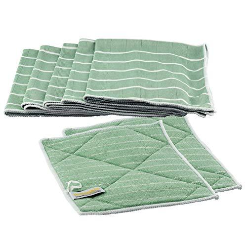 Muxel Bambustücher | antibakterielle Putztücher zum Reinigen + Polieren 7er Set