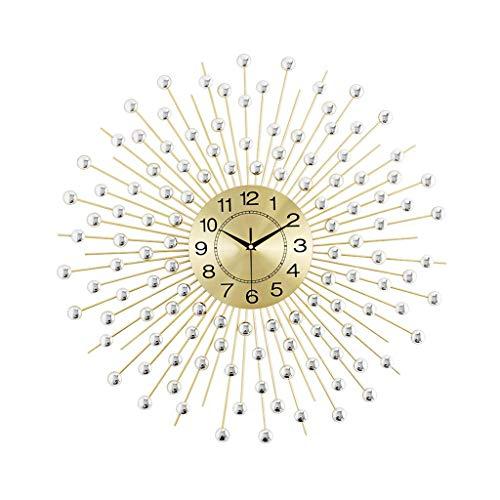 NBVCX Home Life Reloj de Pared Europeo Relojes de Cuarzo silenciosos Que no Hacen tictac para la Sala de Estar - Funciona con Pilas - Reloj Decorativo para el hogar (Color: B Tamaño: 70cm)