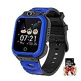 Kinder Smart Watch 1.44 Zoll Touchscreen Kinder Wecker, Kamera, Videos Musik, Spiele Telefon Uhr mit kostenlosen 1GB Micro SD Karte (Blau)