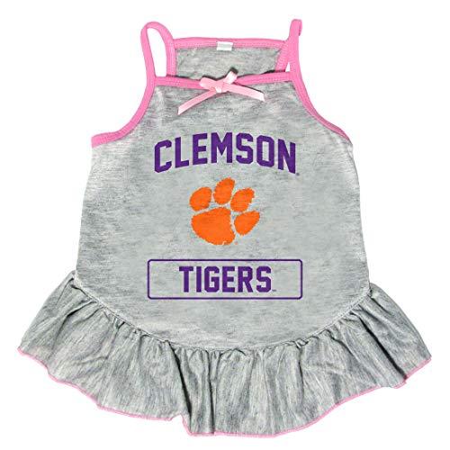 Littlearth NCAA Clemson Tigers Pet Dress, Extra Small