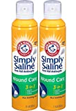 Arm & Hammer Simply Saline 3-in-1 Wound Care, 7.4 Ounces each (Value Pack of 2)