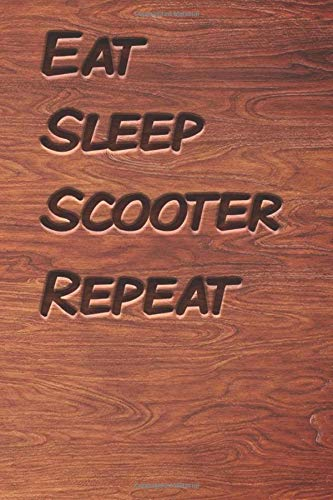 Eat sleep Scooter Repeat: woodworking books notebook&Journal Scooter Lovers /  WoodCarver Mallet Woodwork  Scooter Gift , (Vintage Wood Designs , Old ... Diary, Composition Book),  Lined Journal