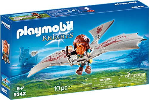 PLAYMOBIL  Enano con Máquina Voladora Juguete