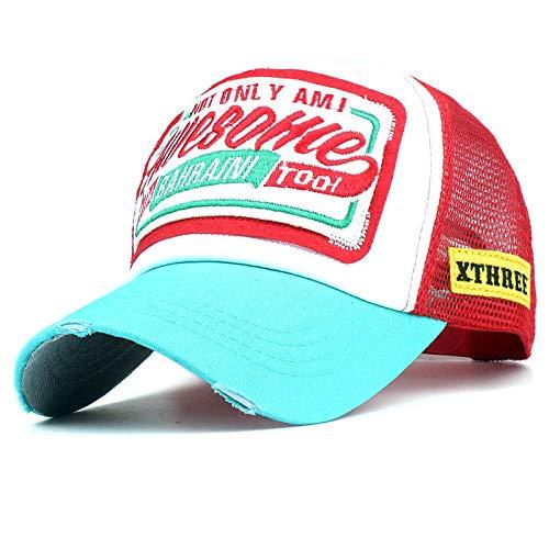 Gorra de Red de béisbol Carta Bordado Moda Hombres y Mujeres Gorra Hat Sun Caps Fiesta Plegable Sombrero de...