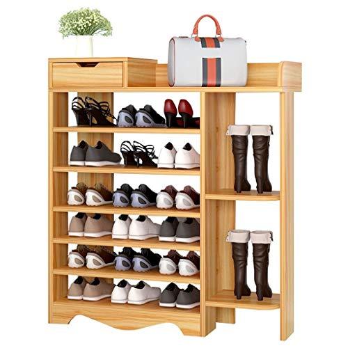 Zapatero Rack de zapatos de gran capacidad, Rack de zapatos de siete capas for almacenamiento grande, Gabinete de almacenamiento for el hogar con cajones for guardar llaves de artículos de zapatos, et