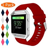 Best Sports And Fitness Accessories For Men - KingAcc Compatible Fitbit Blaze Strap, Soft Accessory Replacement Review