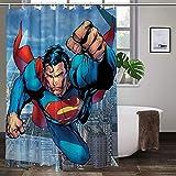 Ungiftig, kein Geruch, Duschvorhang, Superman, hochtemperaturwiderstandsfähig, farbenfroh, verschleißfest, Badezimmervorhänge