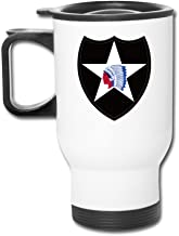 2nd Infantry Division Indianhead Fashion Portable Outdoor Sports Travel Mug