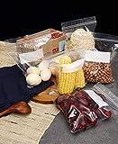 GUBEE Sacchetti con Cerniera Doppia-50 pezzi borsa, Sacchetti per Congelatore, Sacchetti con Cerniera per Alimenti Marinare carne, Verdure, Frutta, Cereali, Sandwich, Snack, Articoli da Viaggio