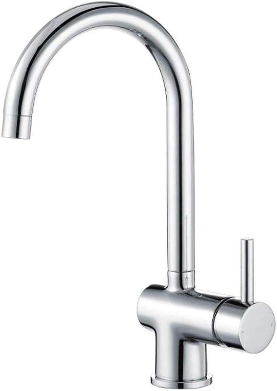 Bathroom Sink Basin Lever Mixer Tap Kitchen Tap Single Lever Sink Mixer Monobloc Tap Swivel Spout Chrome