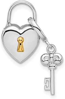 925 Sterling Silver Rhod Gold Plated 10mm Heart
