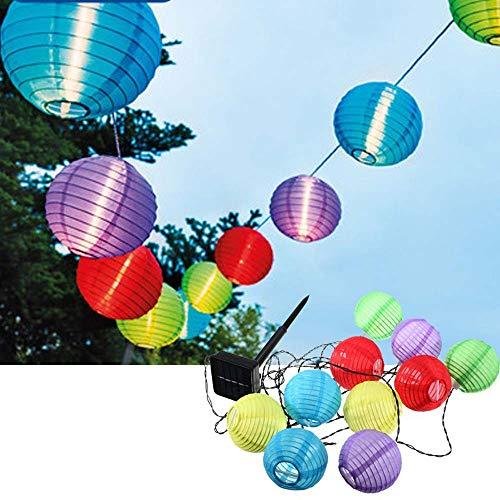 ZDSKSH Farolillos Solares Exterior, Guirnaldas de Luces, 4 Metros 20 LED Luces Terraza, Luces Solares Impermeable Decoracion Jardin para Exteriores, Bodas, Jardín, Fiesta, Multicolor