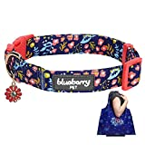 <span class='highlight'><span class='highlight'>Blue</span>berry</span> <span class='highlight'>Pet</span> Pack of 2 Spring Scent Inspired Products in Navy <span class='highlight'>Blue</span> - Size Medium Dog Collar and Joyful Floral Print Lightweight Eco-friendly Reusable Shopping Bag