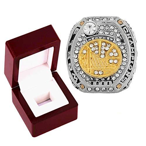 FGRGH Golden State Warriors Championship anillos, 2017 Stephen Curry Champion anillo de baloncesto para fans colección de recuerdos, tamaño 8 ~ 14 con caja 13