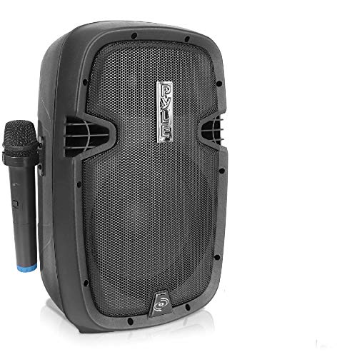 Portable Bluetooth PA Speaker System - 2-Way Rechargeable Outdoor Bluetooth Speaker Portable PA System w/Microphone in, USB SD Card Reader, FM Radio, Amplifier - Mic, Remote Control - Pyle PPHP108WMU