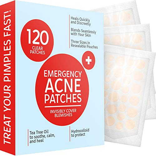 Acne Patches (120 Pack), Hydrocolloid Acne Patch with Tea Tree...