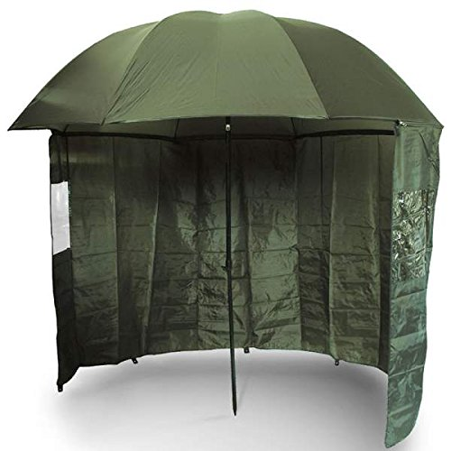 NGT Unisex's On Side Sheet Brolly With Zip, Green, 45-Inch