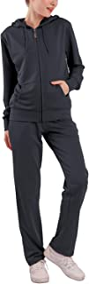Womens Sweatsuits Sets 2 Piece Jogger Outfit Tracksuits Hoodie & Pants Activewear Zip-up Loungewear (Charcoal, XL)