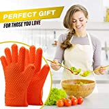 Microwave Silicone Heat Resistant Grilling BBQ Insulated Gloves for Cooking, Baking, Pot Holder