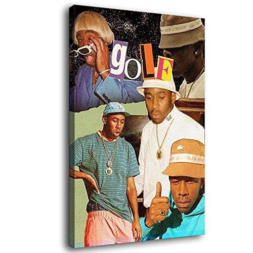Rapper Tyler The Creator Hip-Pop Art Collage Leinwandkunst Poster und Wandkunst Kunstdruck Modern Family Schlafzimmer Dekor Poster Geschenk, gerahmt, 12x18inch