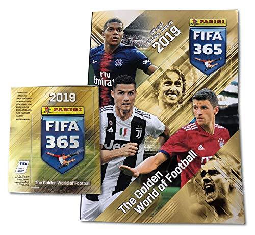 .Panini FIFA 365 - 2019 - 1 Album + 1 Displays (50 Tüten) Sticker (passend zum Album) - Nicht die deutsche Version - Version u.a. für Belgien, Holland usw.