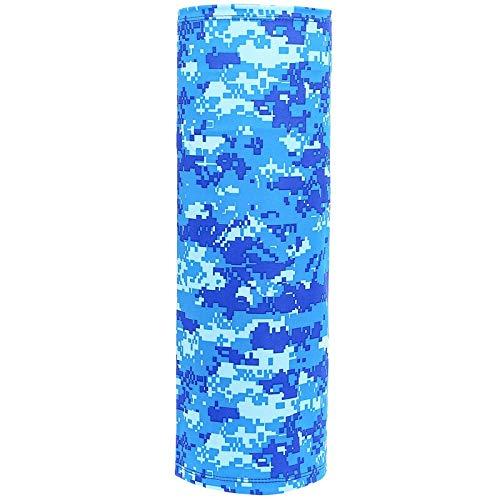 Yun-hangbaihuodian Wandern Schal Sunscreen EIS Silk Schalkragen Männer und Frauen im Freien Multi-Sportfischen Kragen (Color : Camouflage Blue)