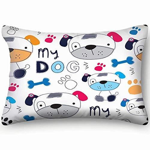 Zcfhike Portrait Dog Bulldog Pop Art Animals Wildlife Animalmiscellaneous Decorative Pillow Case Home Decor Pillowcase Gifts Colourful (20x30 Inches)