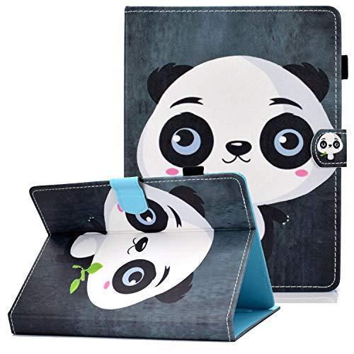 Coopts - Funda de Piel sintética para Samsung Galaxy Tab E 7.0/Tab A 7.0/Kindle Fire 7 2017 2015/Nexus 7/Lenovo y más de 6,5 a 7,5 Pulgadas C-Cute Panda
