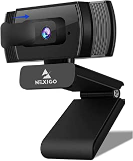 2020 AutoFocus 1080p Streaming Webcam with Stereo Microphone and Privacy Cover, NexiGo FHD USB Web Camera, for Online Clas...