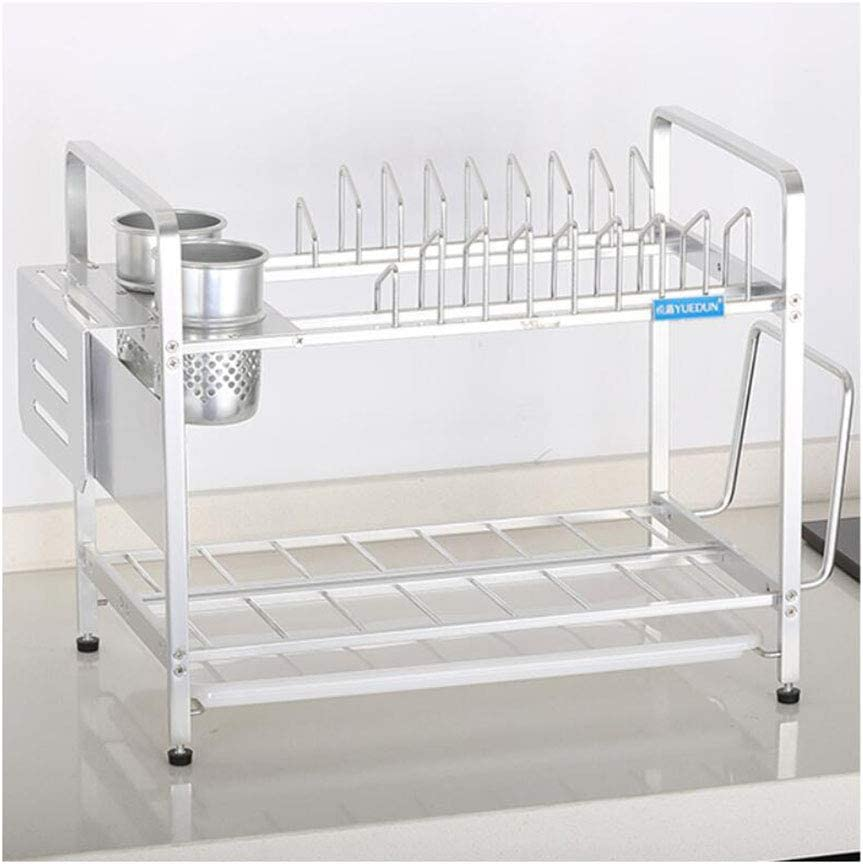 LANLANLife 2-Tier Dish Drainer Spring new work one after another Rack Tucson Mall with Holder Removab Cutlery