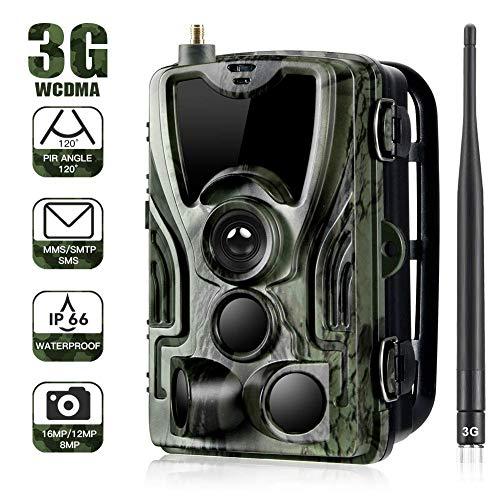 Cámara de caza 3G 2G Cámara de vigilancia de vida silvestre 20MP 1080P, cámara de juego de detección nocturna con LED IR de 940 nm, visión nocturna, pantalla LCD de 2.4 '. IP65 a prueba de agua.…801G