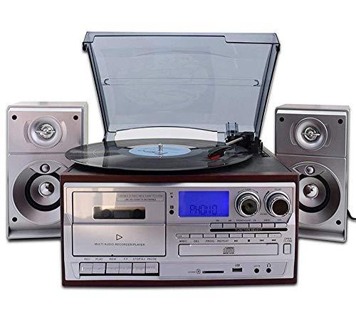 Hejok Tocadiscos Tocadiscos Tocadiscos con Altavoces Tocadiscos para Registros Tocadiscos Vintage con Correa de 3 velocidades Tocadiscos de música