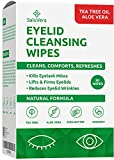 ✔️ Relieves Dry and Itchy Eyes: Get the relief that you need. Simply wipe and say goodbye to dry and irritated eyelids. Pre-moistened eyelid cleanser wipes with natural tea tree oil and aloe Vera improve clogged glands. Our eye wipes help relieve dry...