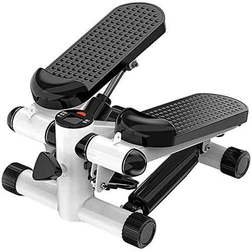FHISD Mini Stepper, Fitness Swing Stepper Machine, Hidráulico Cross Trainers, con Pantalla LCD de Cables de Resistencia, Pedal de Masaje, para Principiantes y usuarios avanzados