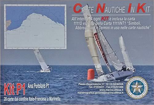 Istituto Idrografico della Marina Carte NAUTICHE Mar Ligure. Kit P1. 20 Carte Confine Italo-Francese A MARINELLA