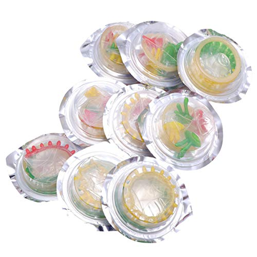 LUOEM 10 Stück Latex Kondome Blume Bunte Gesundheit Kondom Produkte Verzögern Kondome