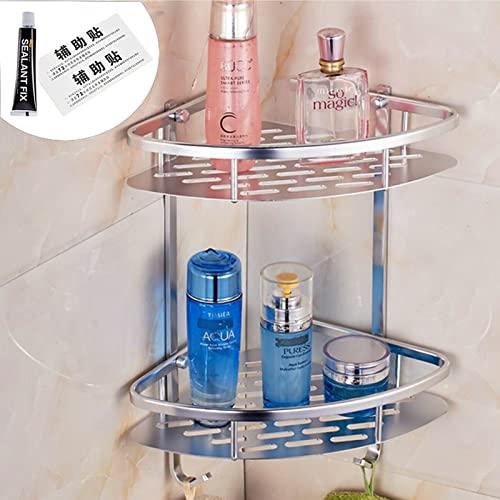 YADIMI Aluminio Estante de baño, Estanteria Ducha sin Taladros, Autoadhesivo 2 Capas Estantes Ducha para Baño para baño y Cocina ✅