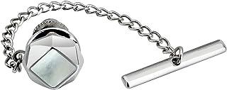 AMITER Men's Tie Pins Tie Tacks with Chain for Men Necktie Accessory