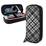 Yuanmeiju Black Texture Estuche for Boys and Girls Large Pencil Pouch Holder Pen Case for Student College School Supplies & Office