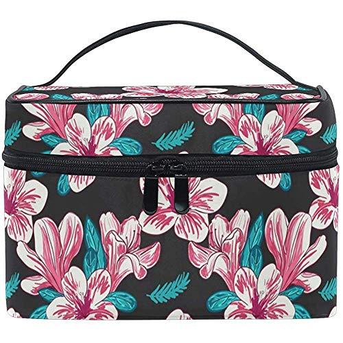 Make-up tas mode bloem zwart draagbare cosmetische toiletborstel tas reistas organisator doos zak