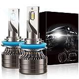 GSRECY Bombillas LED para faros delanteros, 60 W 12000 lúmenes Kit de conversión de faros LED superbrillantes 6000 K Blanco frío IP68 (H11 H8 H9)