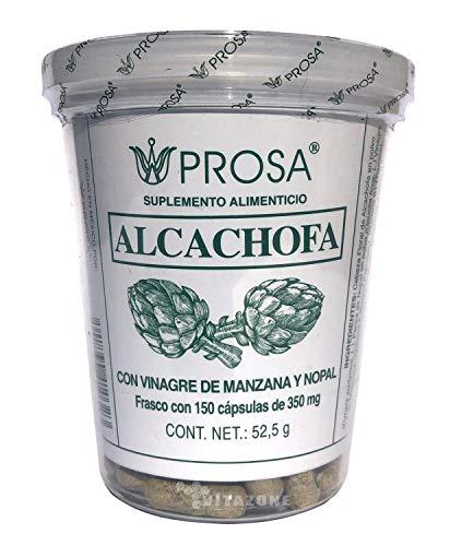 Alcachofa con vinagre de manzana y nopal, Prosa, 150 cápsulas